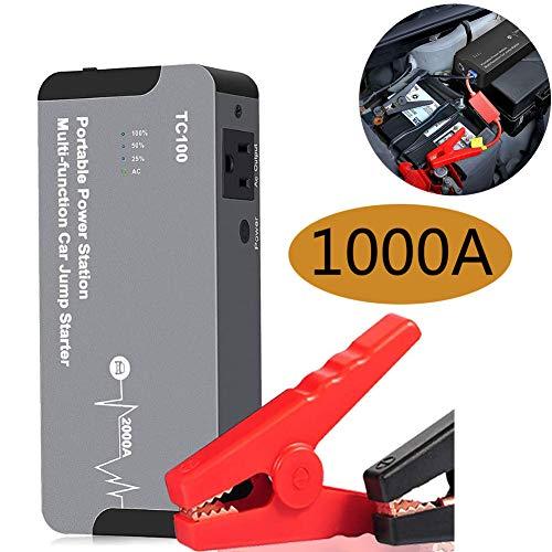 ZZAZXB Arrancador De Baterias De Coche, Arrancador De Coches Portatil, 1000A 20000Mah (para 6.0L De Gasolina), con Luz LED, Pantalla LCD, Carga Rápida