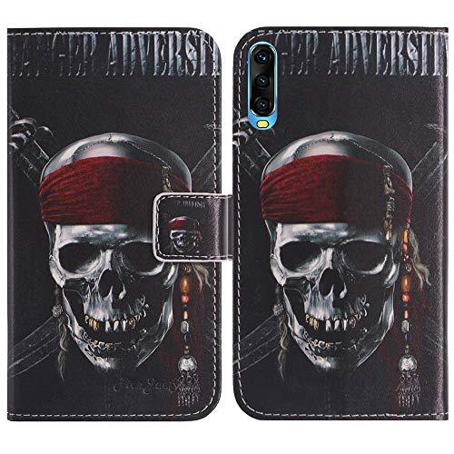 TienJueShi Totenkopf Flip Stand Brief Leder Tasche Schütz Hülle Handy Case Für XGODY A90 6.53 inch Abdeckung Fall Wallet Cover Etüi