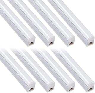 (Pack of 8) Kihung Under Cabinet Light 2ft, 10W, 1100lm, 4000K (Daylight),Utility led Shop Light, LED Ceiling Light and T5 LED Tube Light Fixture, Corded Electric with Built-in ON/Off Switch