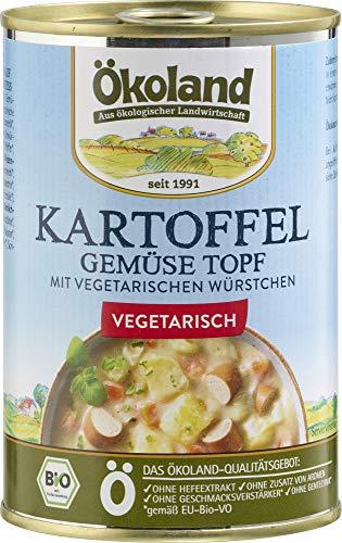 ÖKOLAND Bio Kartoffel-Gemüse-Topf mit vegetarischen Würstchen (6 x 400 gr)