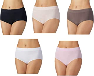 Ladies' Seamless, Stay in Place Brief, Full Coverage, 5 Pack