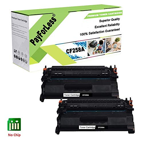 PayForLess Compatible for HP 58A CF258A Toner Cartridge for HP Laserjet Pro M404 M404n M404dn M404dw MFP M428 M428dw M428fdn M428fdw (No Chip) for HP58A