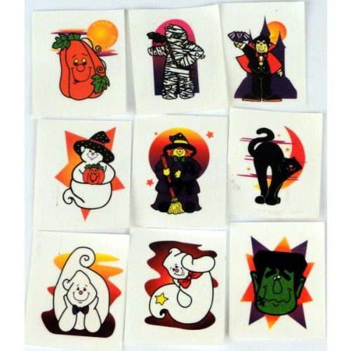 cama24com Tattoos Glitzer Halloween 36 Stück 12 verschiedene Motive Palandi®