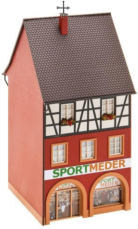 venta al por mayor barato HO Scale City City City House w Sporting Goods Store - Kit -- 3 x 3-1 8 x 6-7 8 7.5 x 8 x 17.5cm by Faller  punto de venta barato