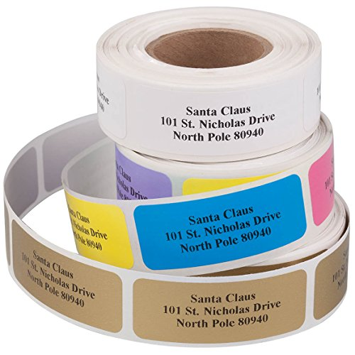 Personalized Classic Roll Labels, Set of 200 - Rainbow