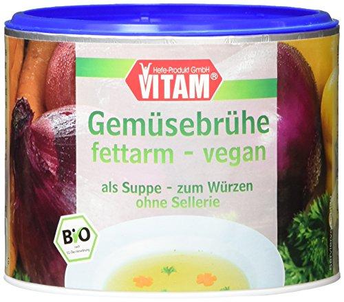 VITAM Gemüsebrühe fettarm mit Bio-Hefeextrakt, 3er Pack (3 x 210 g)