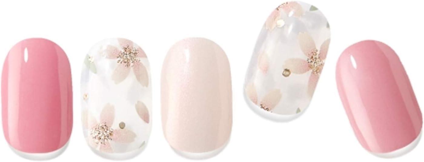 Edgeu DEEP Pink Spring Bloom Dedication Gel Sticker 34pcs Real Nail Manufacturer regenerated product