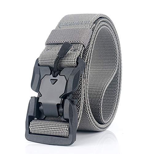 NXYJD Cinturón Relojamiento rápido Hebilla Cinturón Suave Real Nylon Accesorios Deportivos (Color : A)