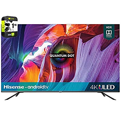 Hisense 55H8G 55 inch H8G Quantum Series 4K ULED Android Smart TV 2020 Bundle with 1 Year Extended Protection Plan