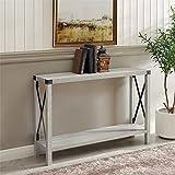 Delacora BDF46MXETST Delacora WE-BDF46MXET 46' Long Rustic Farmhouse Console/Sofa Entry Table with Barn'X' Sides