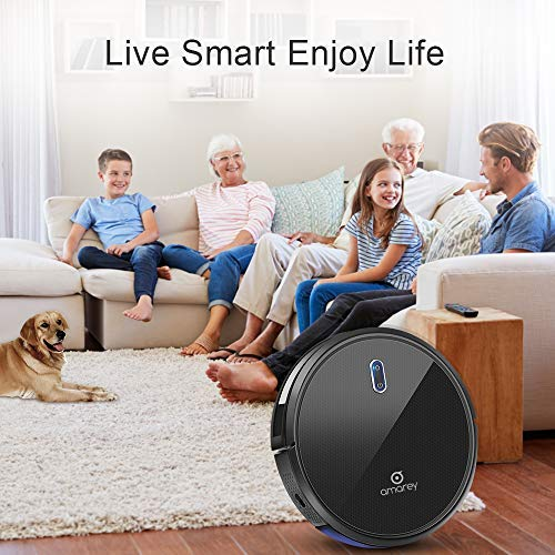 Robotic Vacuum Cleaner -1400pa Powerful Robotic Vacuum with 4 Cleaning Modes Customizable Cleaning Schedule 360° Anti-Collision & Drop Sensor Protection Auto Charging Robotic Cleaner for All Floor