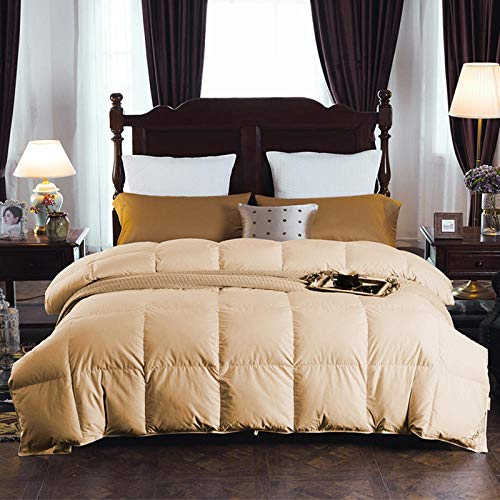 Hahaemall 15 tog duvet The winter duvet King Size Down Duvet white goose duvet can be used for family and hotels-Anti Allergen Winter Quilt-200x230cm-450g_Golden