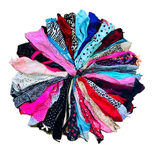O'Kalyn Varity of Women Underwear Panties Pack Boyshorts Briefs Hipsters Bikinis Thongs G-strings Lace Cotton Undies (10 Pcs, Large)