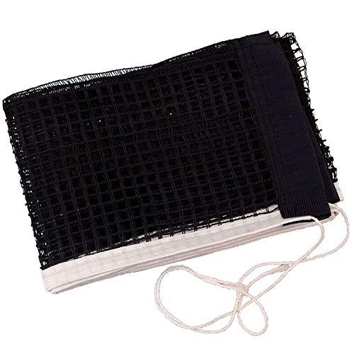 TUAN Rete da ping pong da 180 cm x 15 cm, rete di ricambio per piastre da ping pong da ping pong senza supporto rete di nylon, accessorio di ricambio impermeabile e durevole (nero)