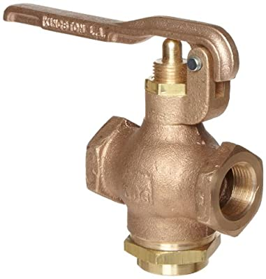 "Kingston 305A Series Brass Quick Opening Flow Control Valve, Squeeze Lever, 3/4"" NPT Female from Kingston Valves"