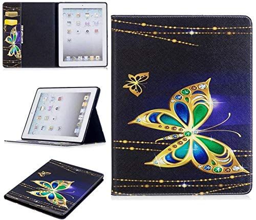 LCM Tablet Cases for IPad 2nd/3rd/4th Generation, Cute Panda Owl Butterfly Flower Design Tablet Stand Card Slot Case Compatible with IPad 2nd/3rd/4th Generation (Color : 3)