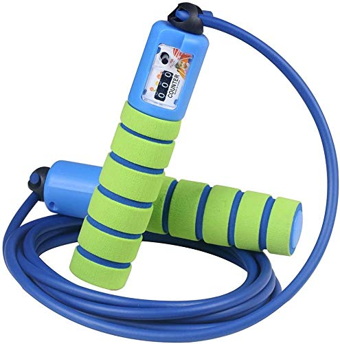 QIYUE Saltar la Cuerda Cuerda Velocidad con un establo, un Agarre Seguro y Mangos Agarre Seguro, Luz Saltar la Cuerda for la formación, la capacitación, el Boxeo, la formación y la Aptitud