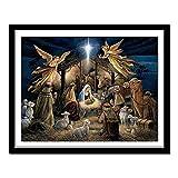 5d Diy diamante pintura punto de cruz nacimiento de Jesucristo cristal diamante hogar decorativo completo bordado de diamantes40*50