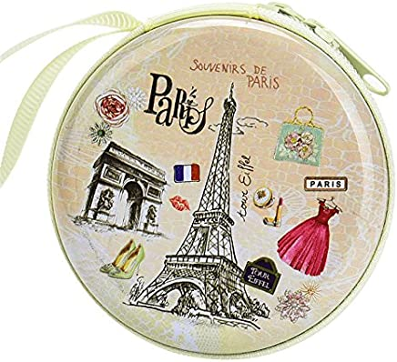 MStick Paris Skin Zipper Round Headphones / Coin Purse Wallet Pouch Bag Key Holder For Birthday Gifts   Return Gifts
