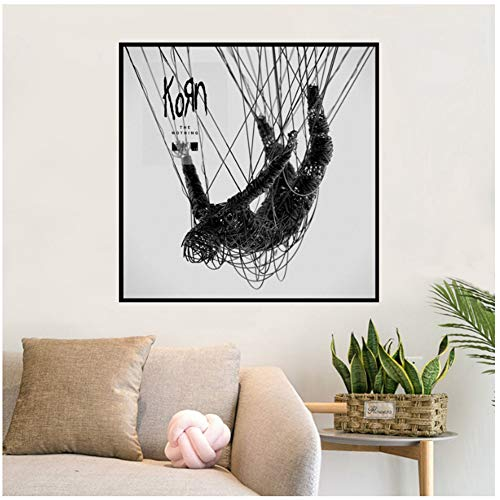 ASLKUYT Korn The Nothing Album Music Cover Poster Wall Art Wall Picture Canvas Printing Home Decor Canvas Print-20x20 in No Frame