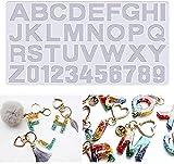 N\C Molde de Silicona con Forma de Alfabeto, números Reutilizables, Letras, Forma de corazón, joyería, Molde para Hacer Joyas, Kit de moldes de Alfabeto invertido