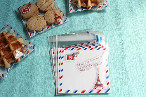 【Fuwari】袋 小袋 お菓子 チョコレート クッキー キャンディー アクセサリー 小物 ラッピング ハロウィン 100枚 包装袋 小分け プレゼント m5 (�G)