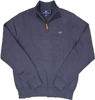 Vineyard Vines Men's Cotton 1/4 Zip Solid Sweater - Deep...