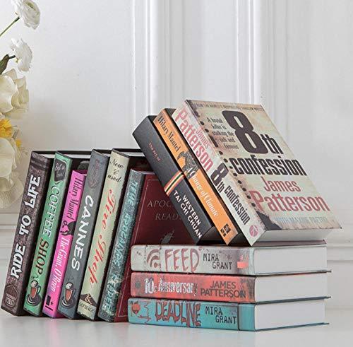 ZWHBB Fake Book Retro dekoratives Buch Fake Book Simulation Buch Dekoration Modell Zimmer Buch Shell Restaurant WiFi Kaffee Wohnzimmer bücherregal Requisiten Buch
