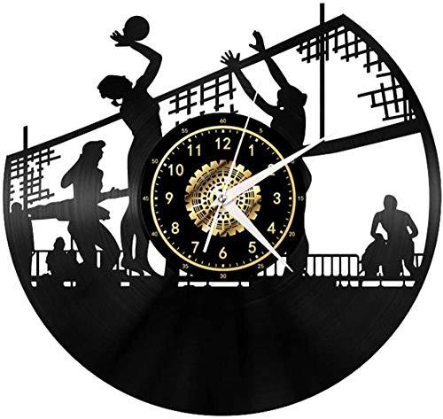 Deportes De Pelota De Fútbol Baloncesto Del Ping-Pong De La Vendimia Negro Del Disco De Vinilo Del Reloj De Pared Arte De Pared 3D Diseño De Oficinas Moderno Bar Sala De Decoración Del Hogar Regalo E