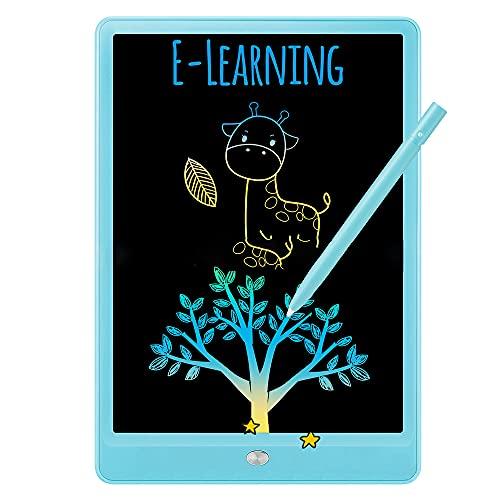 Tablero Dibujo Niños Tableta Escritura Lcd 10 Pulgadas Borrable Portátil Escuela En El Hogar a Mano Con Bolígrafo y Cuerda Colgar Tablero Escritura Educación Temprana Adultos Niños a Partir 3 Años