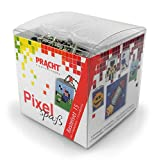 Pracht Creatives Hobby P90035-63501 Pixel - Kit Fai da Te 15, per Creare 4 Portachiavi (medaglioni) per Bambini, Sistema a Incastro, Senza Stiratura e Colla, Pietre in plastica Biologica
