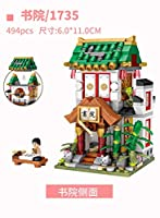 モデルビルディングブロック ロズミニシティストリートブロック/ロケス中国文化伝統建築モデルビルディングブロック教育ギフト収集価値 (Color : 1735no box)