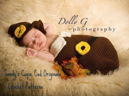 Baby Pilgrim Crochet Pattern Cocoon and Hat Set
