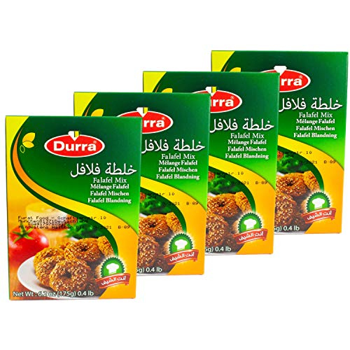 Durra - Arabische Falafelmischung - Vegan vegetarische Falafel-Fertigmischung orientalisch im 4er Set á 175 g