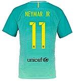 Nike - Camiseta de la 3.ª equipación del FC Barcelona, temporada 2016-2017, Neymar 11, extra-large