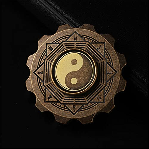 KLFJFD Pure Copper Luminous Gear Fingertip Spinner EDC Adult Relief Fatigue Silent Spinning Spinning Toy Super Long Rotating Child Descompression Toy