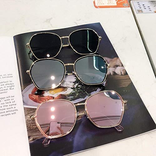 BHLTG Gafas de Sol Mujer Protección UV Gafas Personalidad Redonda Cara Cuadrada Tendencia Gafas de Sol Deportes al Aire Libre Conducción Espejo-3