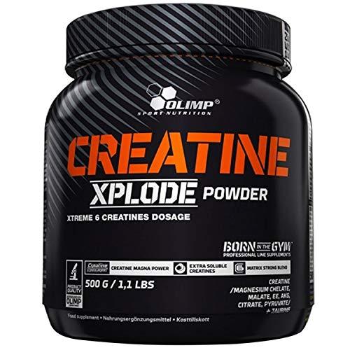 OLIMP Creatine Xplode 500 g Orange Geschmack Creatin Chelat Magnesium Kreatin Malat CAKG Creapure Anabolismus Kraftmuskeln stärken die Energieregeneration
