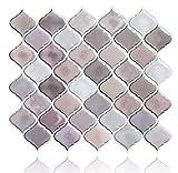 Peel and Stick Backsplash Tiles for Kitchen, Arabesque Decorative Backsplash Peel and Stick,Stick on Tiles for Backsplash,Self Stick Backsplash Tiles (4 Sheets)