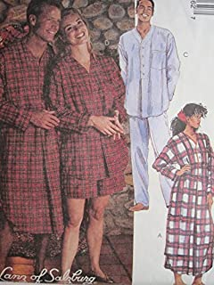 McCall's Pattern 6306 Misses' and Men's Nightshirt and Pajamas Sizes XLG, XXL