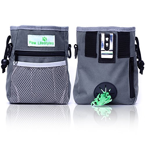 Paw Lifestyles – Dog Treat Training Pouch – Easily Carries Pet Toys, Kibble, Treats – Built-in...
