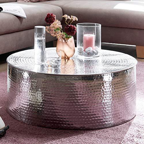 Wohnling Rahi Couchtisch, Aluminium, Silber, 75x31x75 cm