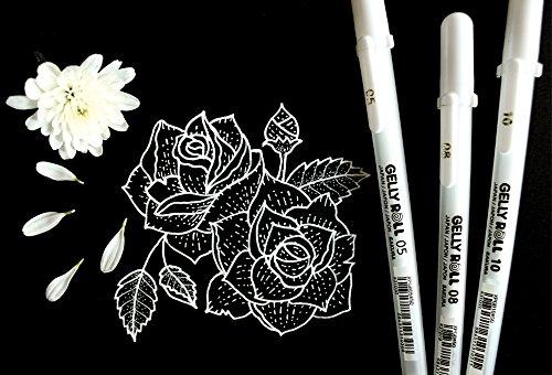 Sakura 57454 Gelly Roll Classic Ass't (05/08/10) 3pk Pen, White