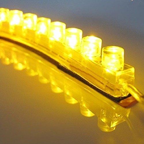 REY Tira LED de 48cm Amarillo, Iluminación Flexible e Impermeable