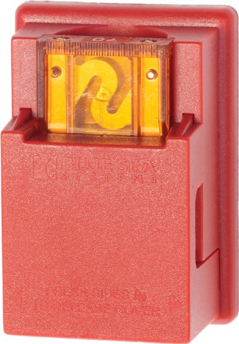 Blue Sea Systems Maxi Fuse Block and In-Line Fuse Holder Red, 80 Amps