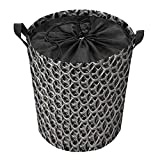 Cestas de lavandería premium con asas, cestas de almacenamiento de ropa, cestas de almacenamiento de vigas de malla de panal de plástico