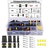 KAMIIN 352 Piezas Kit de Conector de Cable Impermeable, 1/2/3/4 Pines Impermeable Conector Enchufe, Coche Impermeable Rápido Enchufe Terminal para Conexiones de automóviles, Camiones, Barcos