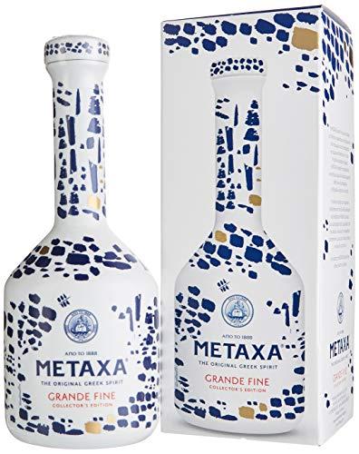Metaxa Grande Fine Collector's Edition Keramikflasche mit Geschenkverpackung (1 x 0.7 l)