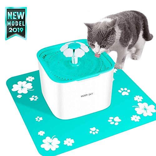 Moer Sky Pet Fountain Cat Water Dispenser-Healthy Hygienic Drinking Fountain 2L Super Quiet...
