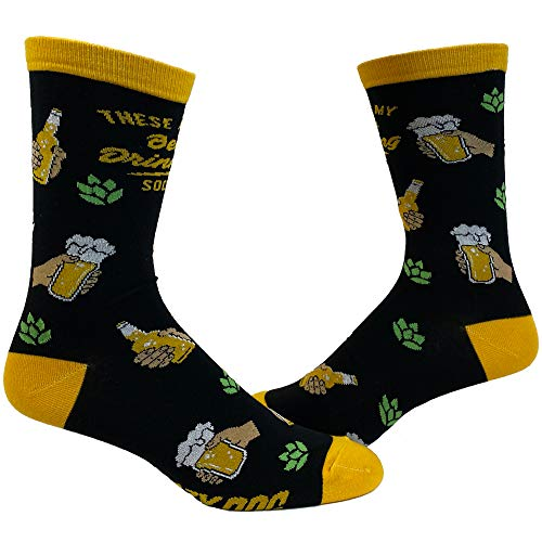 Men's These Are My Beer Drinking Socks Funny Party IPA Brew Graphic Novelty Footwear